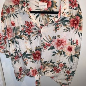 American Eagle Outfitters Tops - American Eagle Hawaiian Button Down Shirt